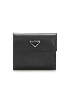 Prada Saffiano Small Wallet Black