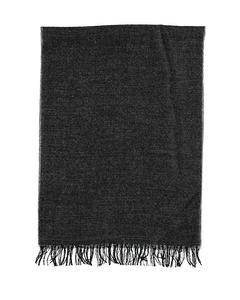 Scarf Solid Melange Black Black
