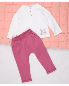 Flowers In Love Kids Jogger Set
