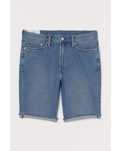 Jeansshorts Slim Blau