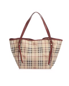 Burberry Haymarket Check Canterbury Coated Canvas Tote Bag Brown