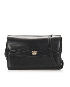 Gucci Leather Crossbody Bag Black