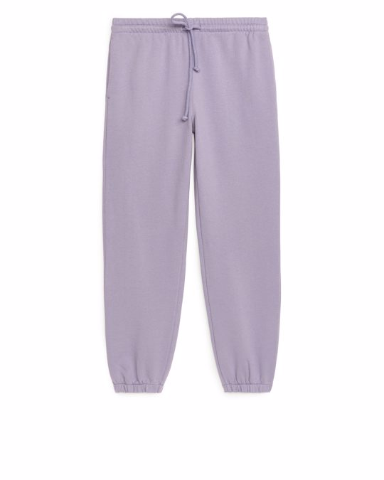 Arket Soft French Terry Sweatpants Lilac