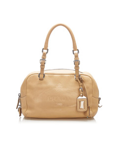 Prada Vitello Daino Shoulder Bag Brown