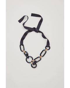 Link Necklace Black