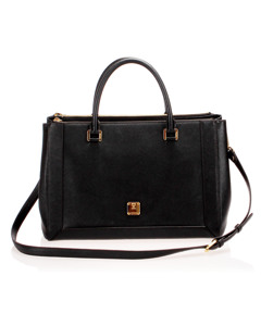 Mcm Nuovo Leather Satchel Black