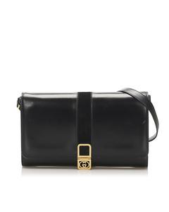 Gucci Interlocking G Shoulder Bag Black