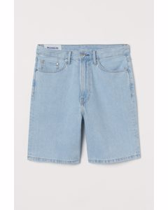 Relaxed Jeansshorts Hellblau