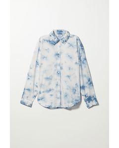 Ramsey Poplin Shirt Blue Tie-dye