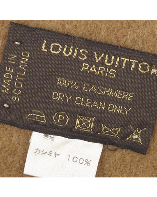 Louis Vuitton Louis Vuitton Cashmere Baroda Scarf Brown