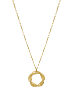 Swirl Necklace Small Gold