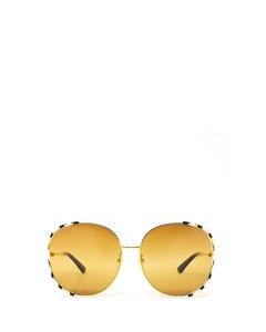 Gg0595s Gold Solglasögon