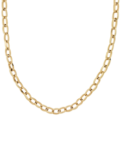 Chain Linked Ketting Large 50 Cm Goud