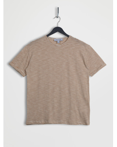 Relaxed Fit Turn Up T-shirt Mustard & White