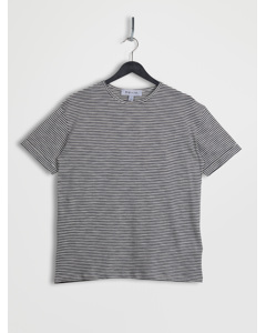 Relaxed Fit Turn Up T-shirt Navy & White