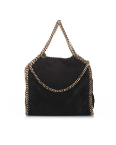 Stella Mccartney Falabella Fold-over Tote Bag Black