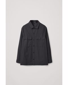 Relaxed-fit Overshirt Black