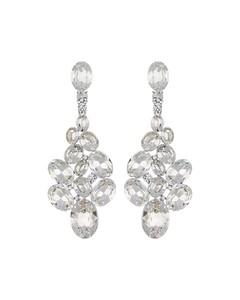Pubblico Long Earring Silver/clear
