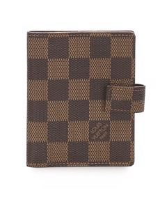 Louis Vuitton Damier Ebene Agenda Pm Brown