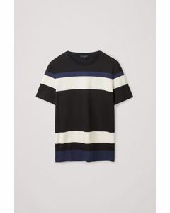 Regular-fit Striped T-shirt Black / White / Blue
