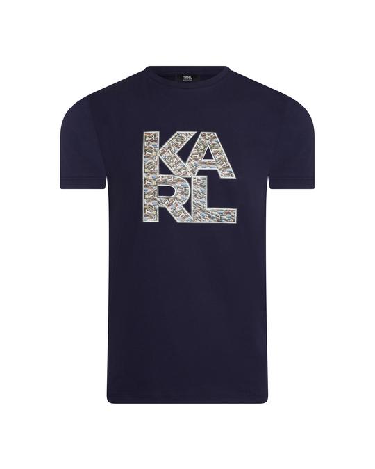 Karl Lagerfeld Karl Lagerfeld Library Logo Shirt Blue