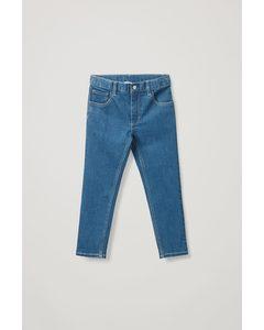 Straight-leg Stretch Jeans Blue