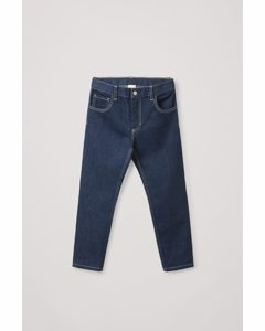 Straight-leg Stretch Jeans Dark Blue