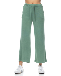Wide-leg Knit Pants With Elastic Waist