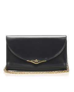 Cartier Sapphire Leather Shoulder Bag Black