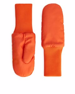 Padded Gloves Bright Orange