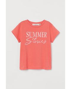 T-Shirt mit Druck Koralle/Summer Stories