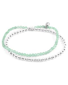 Grüne Aventurin Harmonie Silber Und Naturstein Armband