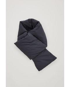 Padded Zip Pocket Scarf Black