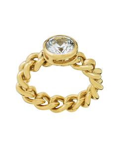 Lourdes Cz Ring Gold