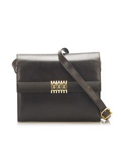 Ferragamo Leather Crossbody Bag Brown