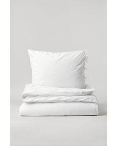 Bettwäsche mit Stickerei Weiß