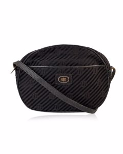 Emilio Pucci Vintage Blackcanvas Messenger Crossbody Bag