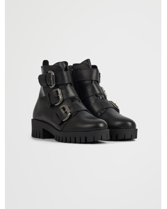 Biacecile Triple Buckle Boot Black