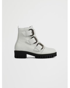 Biacecile Triple Buckle Boot White