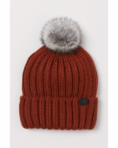 Ribbed Hat Brick Red
