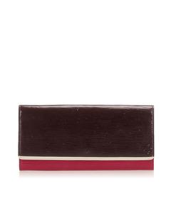 Louis Vuitton Epi Flore Wallet Brown