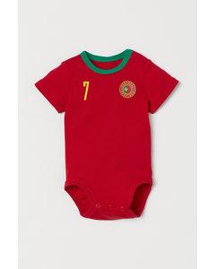 Fotbollsbody Röd/portugal