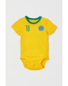 Fotbollsbody Gul/brasil