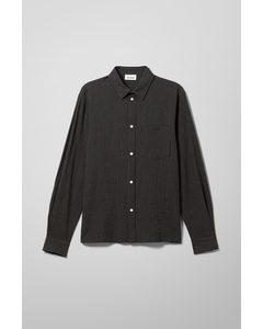 Wise Striped Shirt Black