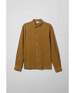 Wise Striped Shirt Khaki Green