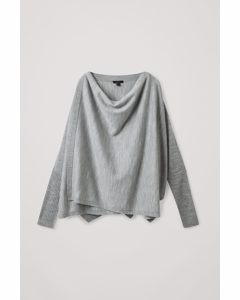 Merino Wool Wrap Cardigan Light Grey