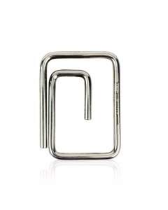 Gucci Vintage Sterling Silver Rectangular Money Paper Clip