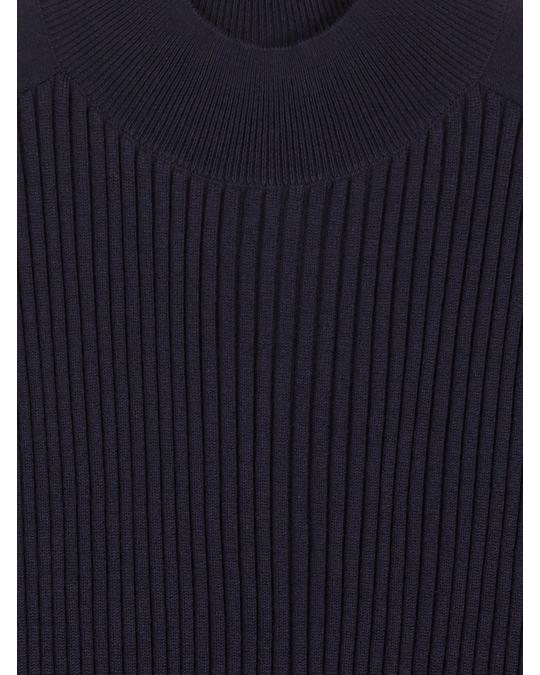 COS Ribbed Wool Jumper Midnight Blue