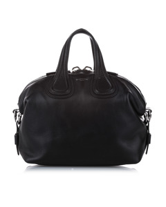 Givenchy Nightingale Leather Satchel Black