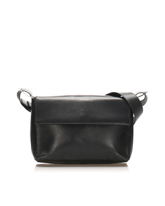 Ferragamo Leather Shoulder Bag Black